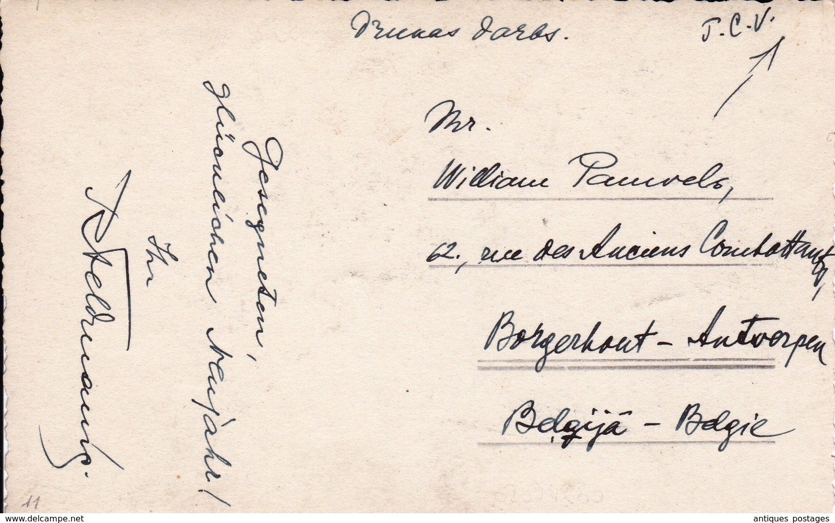 Carte Photo Argentique 1934 Riga Lettonie Latvija - Letland