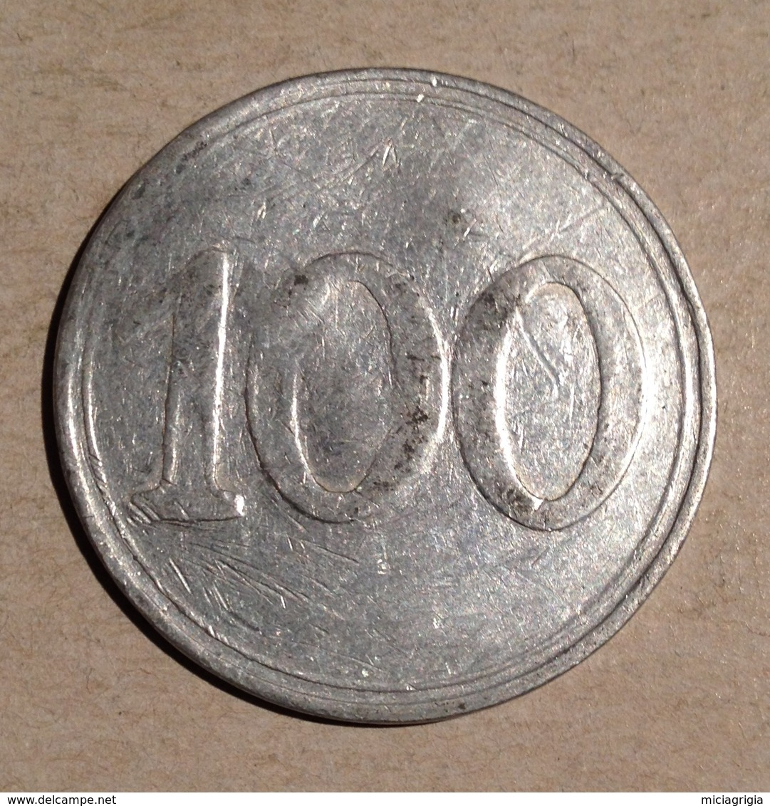 TOKEN JETON GETTONE 100 LIRE ALLUMINIO CON CONTROMARCA L. T. - Gettoni E Medaglie
