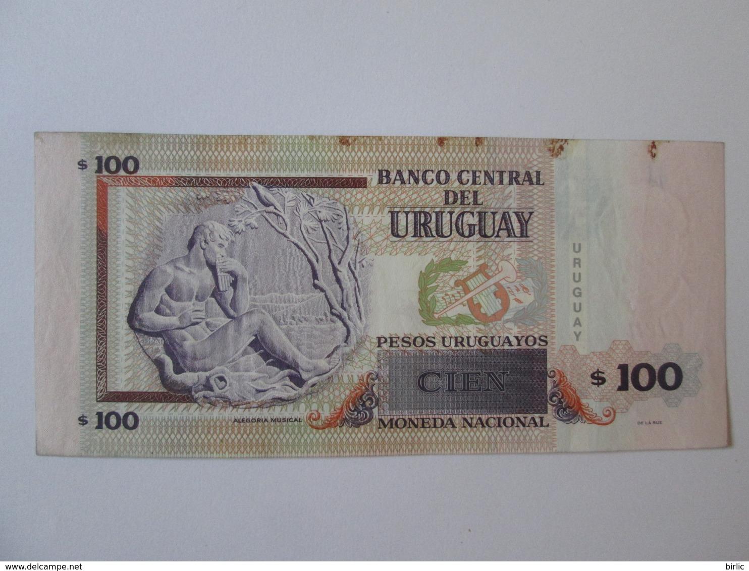 Uruguay 100 Pesos 2011 Banknote - Uruguay