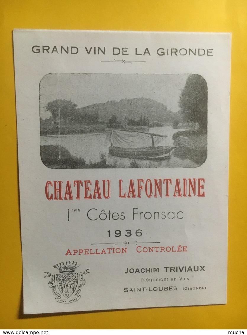 8131 -  ChâteauLaFontaine 1936 1ères Côtes Fronsac - Bordeaux