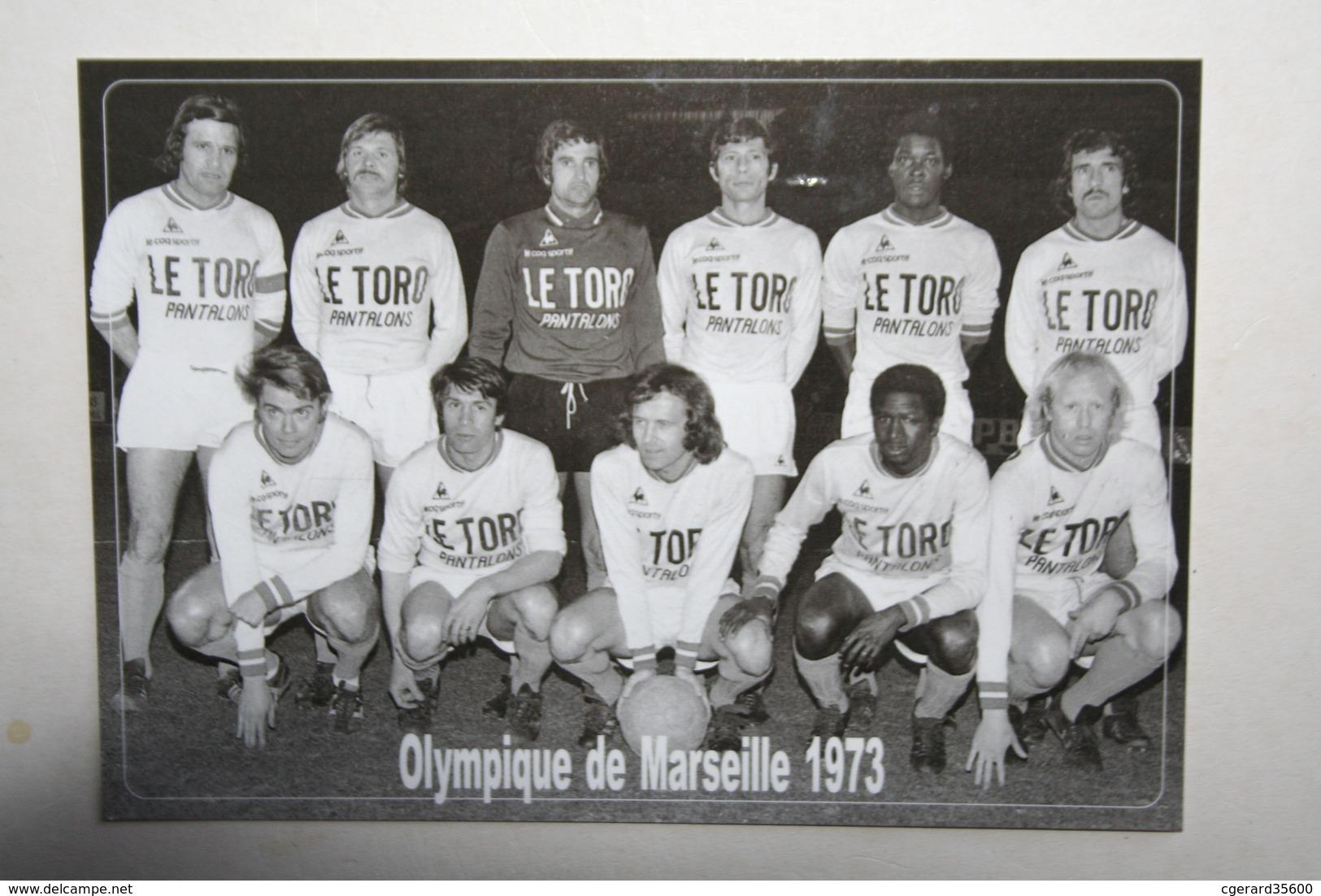 Football - Olympique De Marseille 1973  ( Nom Des Joueurs Au Dos ) - Fussball