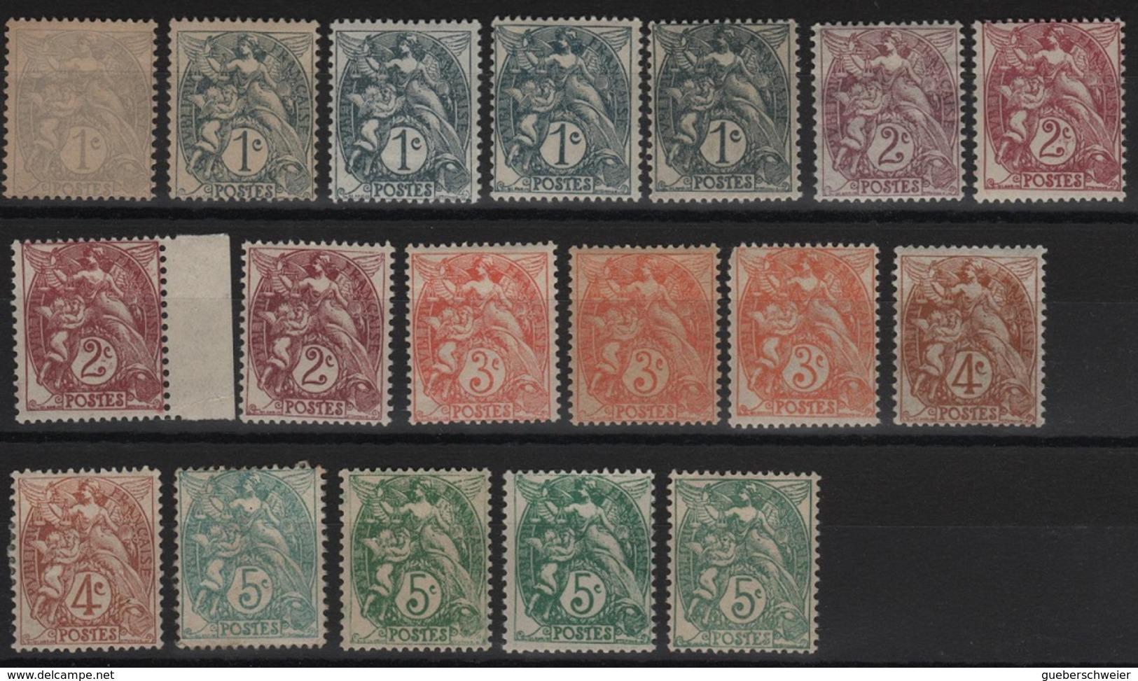 FR 151 - FRANCE Beau Lot De Types Blanc Avec Variétés De Teintes - 1900-29 Blanc