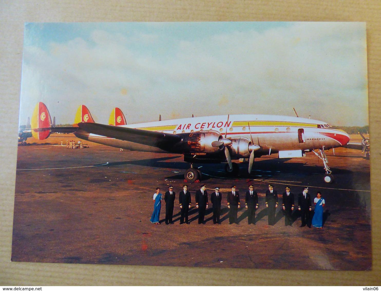 AIR CEYLON   SUPER CONSTELLATION  PH LDP - 1946-....: Moderne