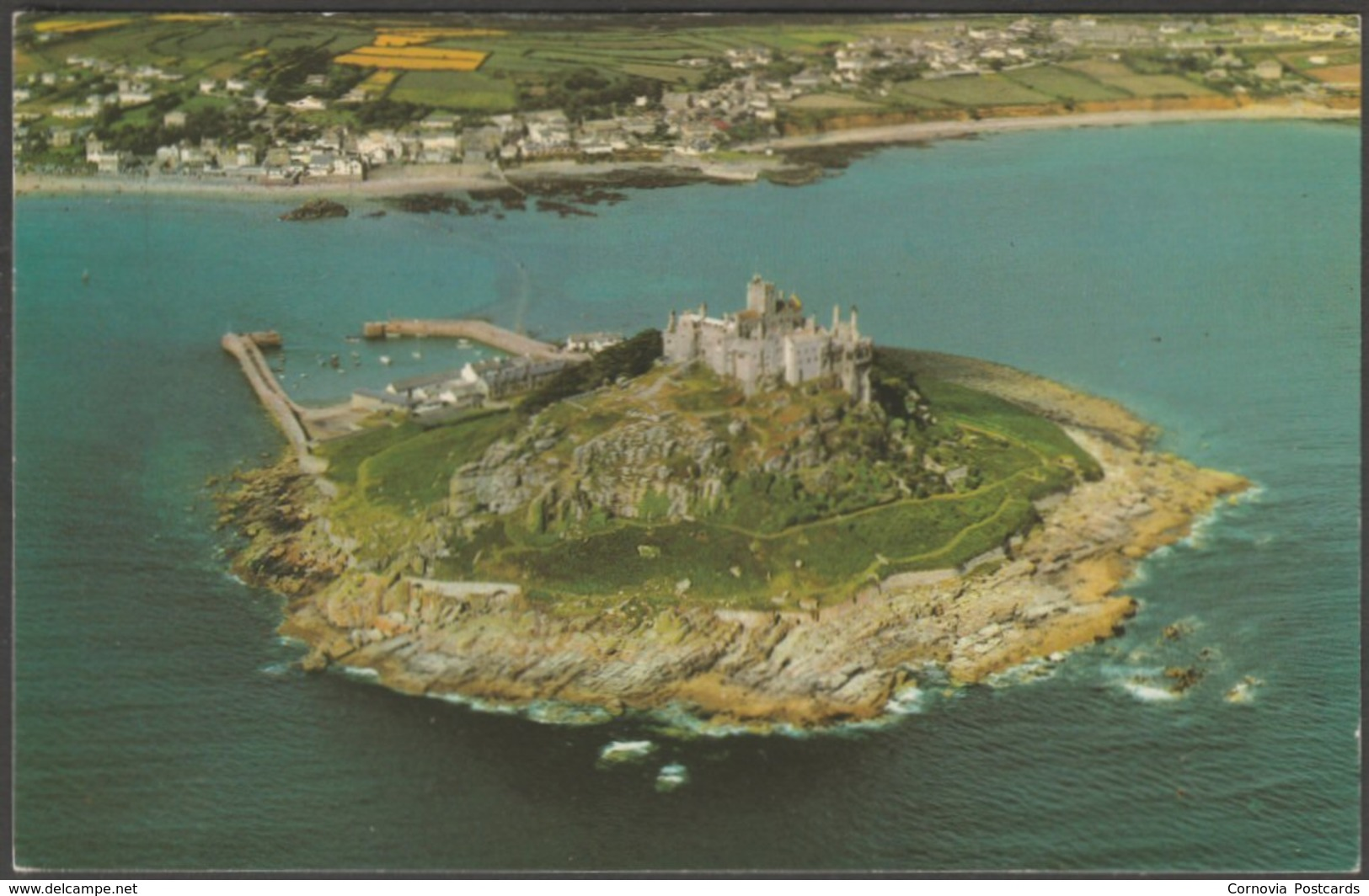 Aerial View, St Michael's Mount, Cornwall, C.1960s - Airviews Postcard - St Michael's Mount