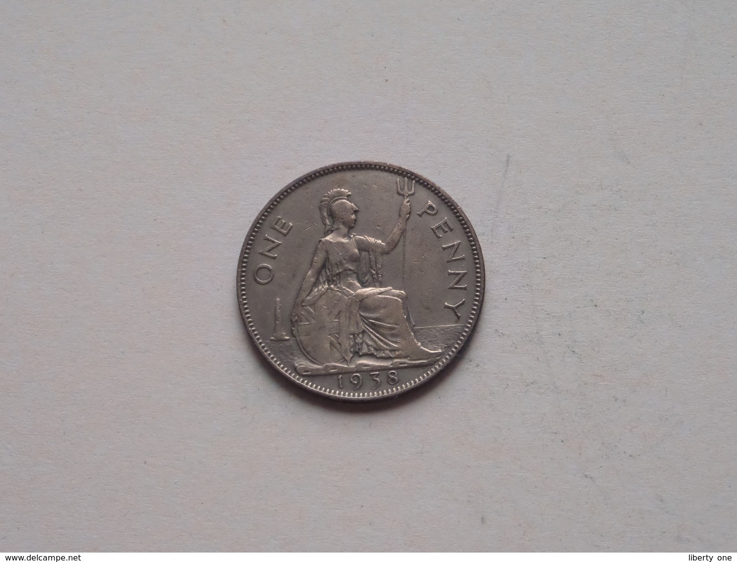 1938 - 1 Penny / KM 845 ( For Grade, Please See Photo ) ! - 1902-1971: Postviktorianische Münzen