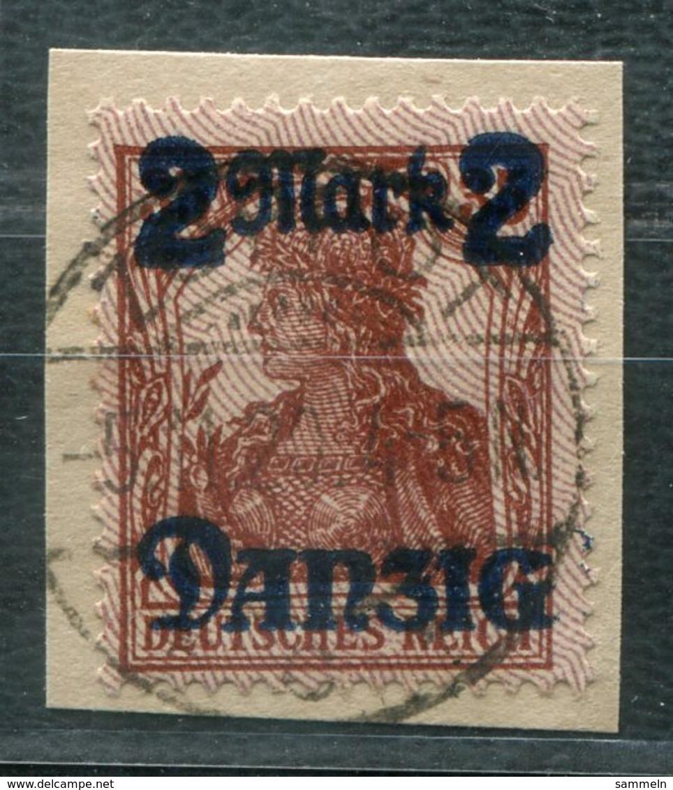 6814 - DANZIG - Mi.Nr. 43 I - Gestempelt Auf Briefstück - Germany