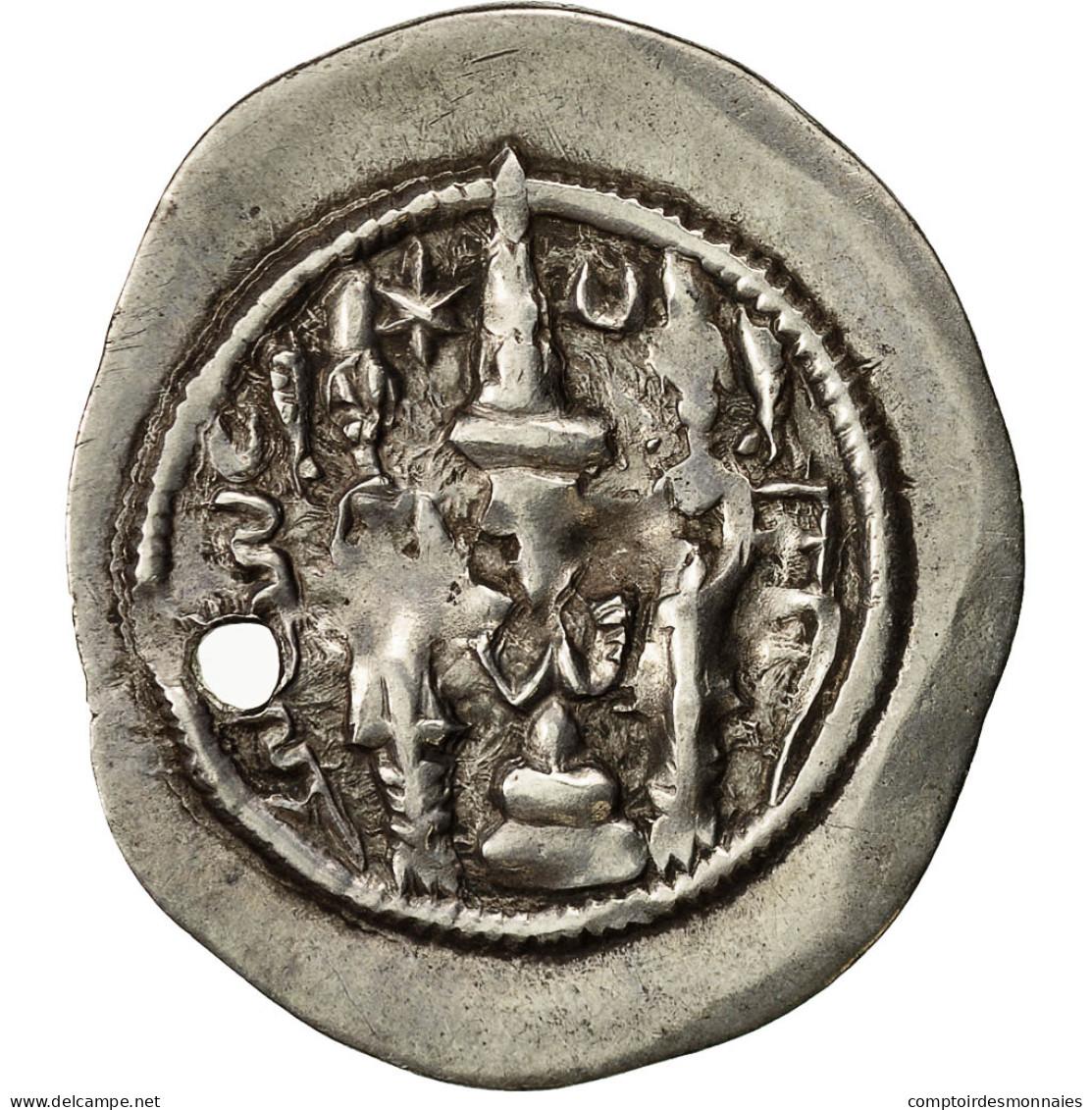 Monnaie, Khusrau I, Drachme, 531-579, TTB, Argent - Orientales