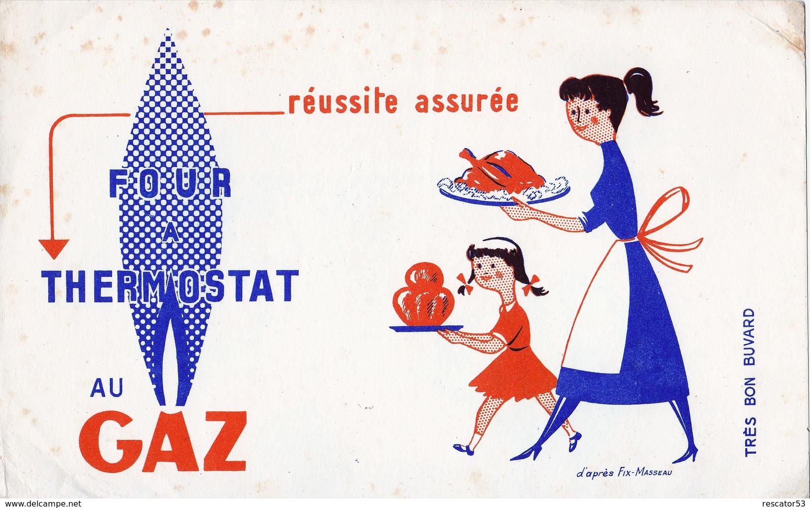 Rare Buvard Four Thermostat Au Gaz - Electricité & Gaz