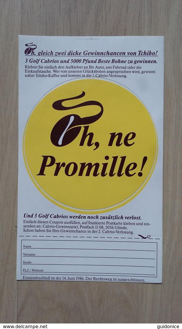 Aufkleber Von Tchibo Mit Einer Duftenden Kaffee-Bohne (1986) - Autocollants