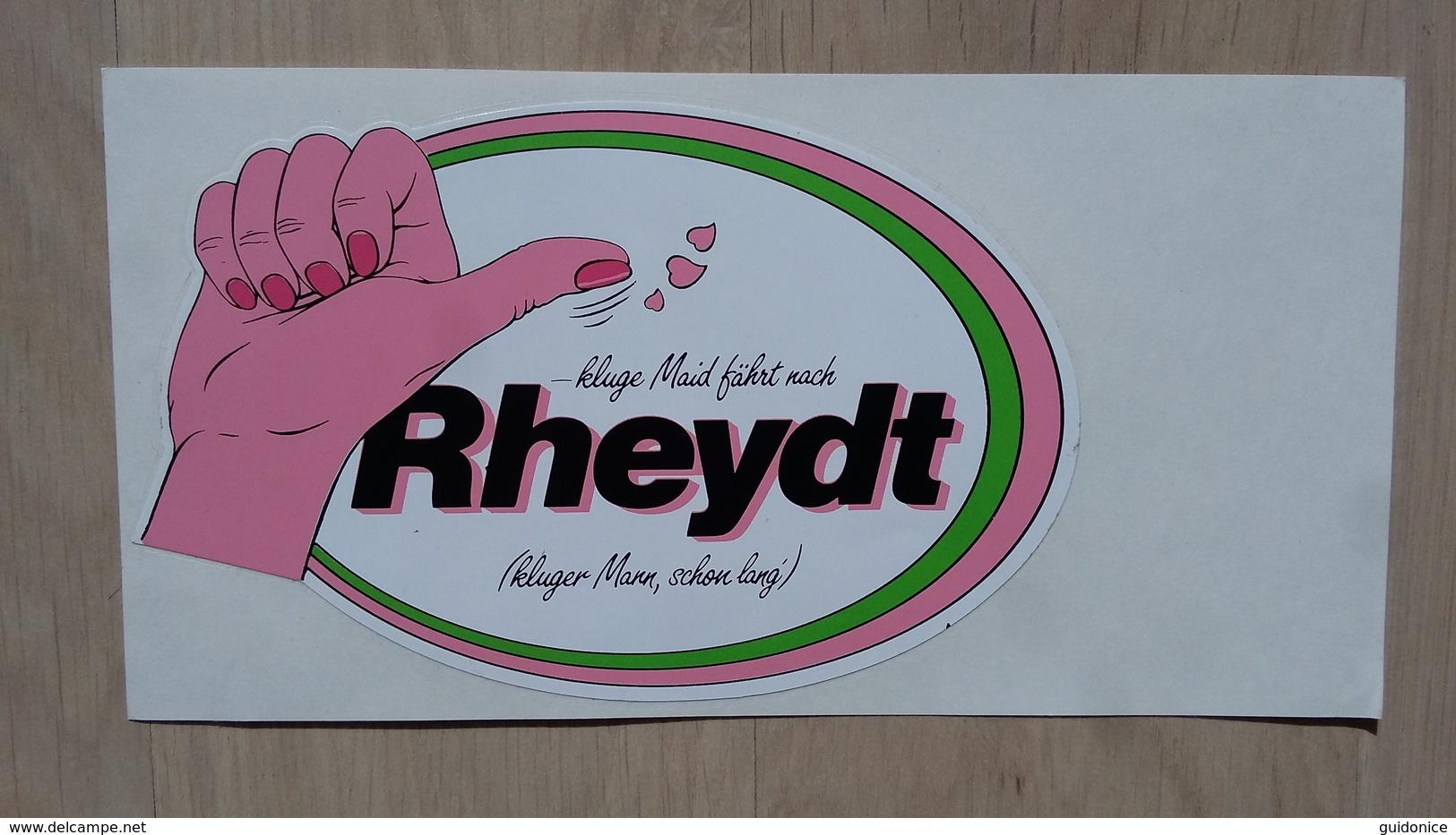 Aufkleber Mit Werbung Für Rheydt (Stadtdteil Von Mönchengladbach) - Autocollants