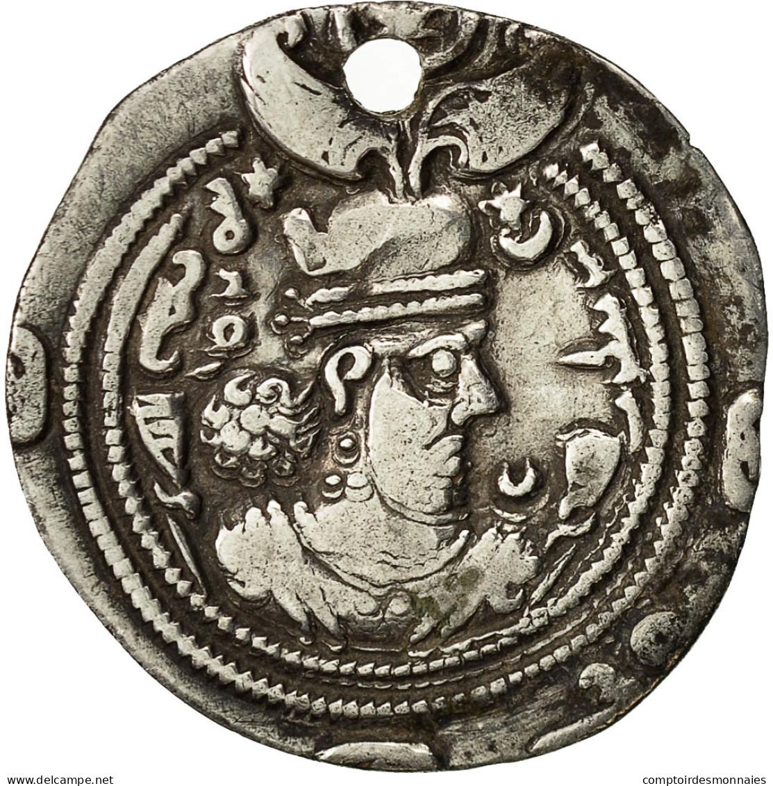 Monnaie, Khusro II, Drachme, 590-628, Ray, TTB, Argent - Orientales