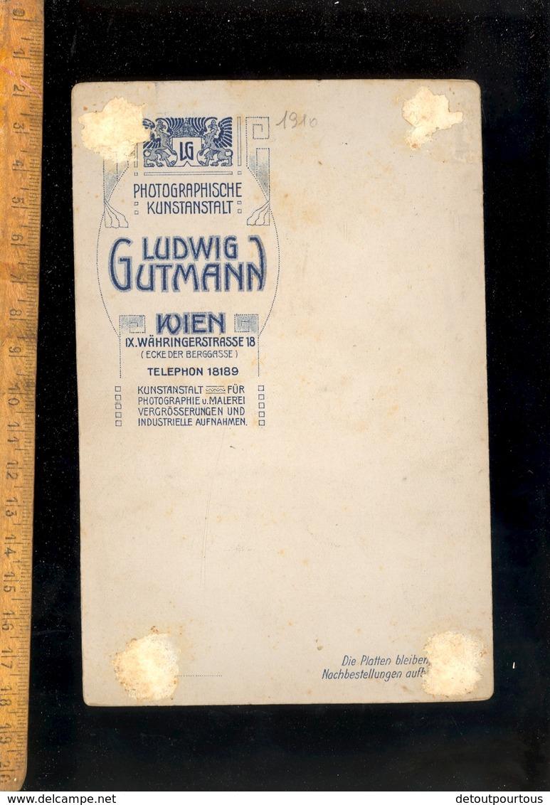 Photographie Cabinet : Maried Military Militär Militaire Soldat Autrichien / Photographe L GUTMANN WIEN IX Fotografie - Antiche (ante 1900)