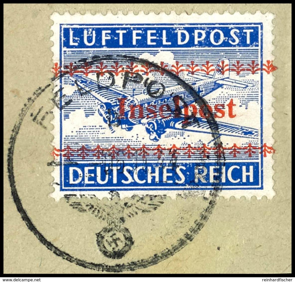 5882 Insel Kreta, Zulassungsmarke Gezähnt, Sauber Mit Tagesstempel Gestempelt Auf Briefstück, Saubere Bedarfserhaltung,  - Unclassified