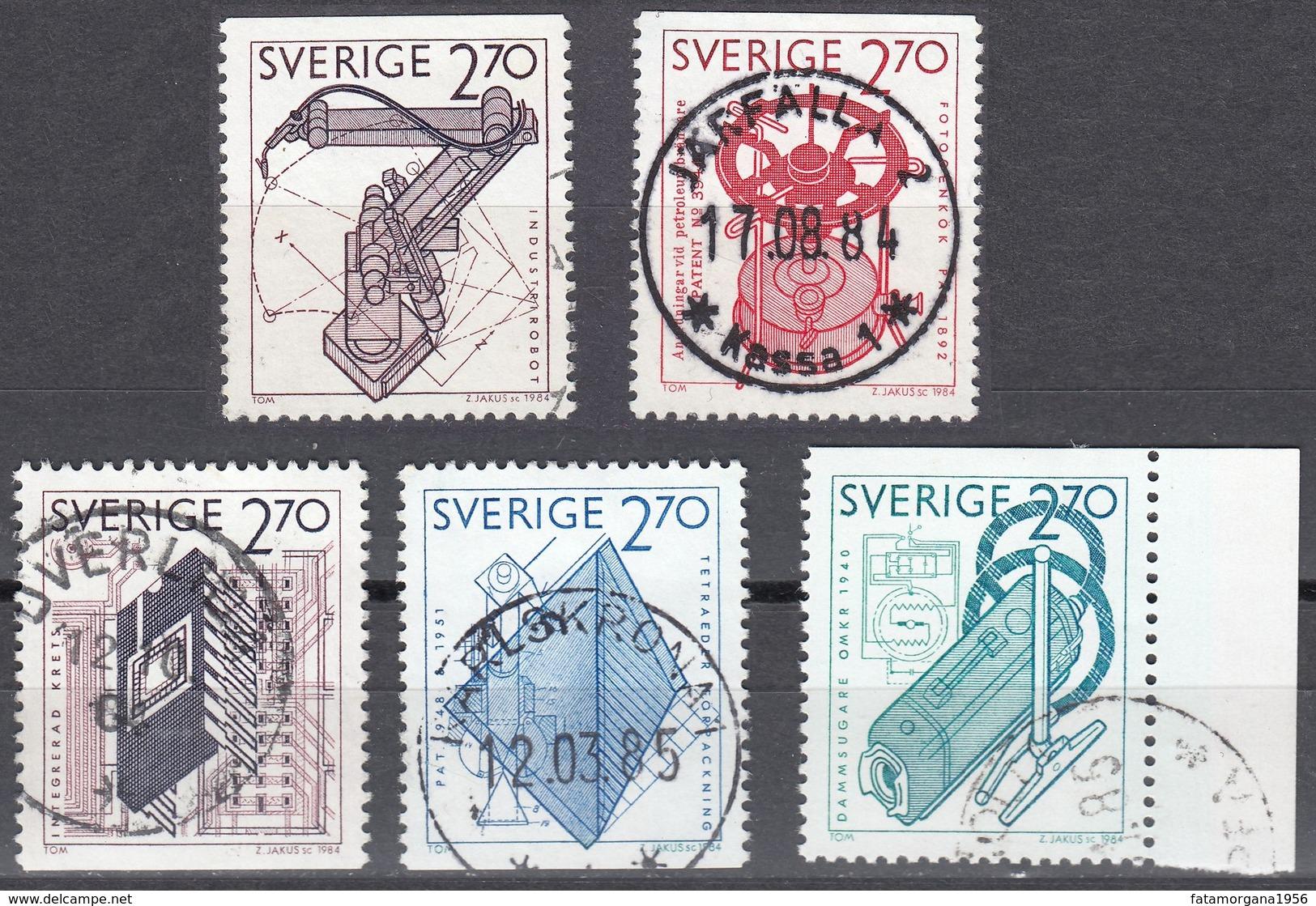 SVERIGE - SVEZIA - SWEDEN - 1984 - Lotto 5 Valori Obliterati: Yvert 1264, 1265, 1266, 1268 E 1269. - Schweden