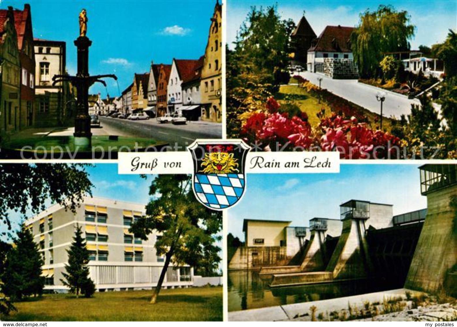 73018771 Rain Lech Wassertalsperre Brunnen Schule  Rain - Deutschland