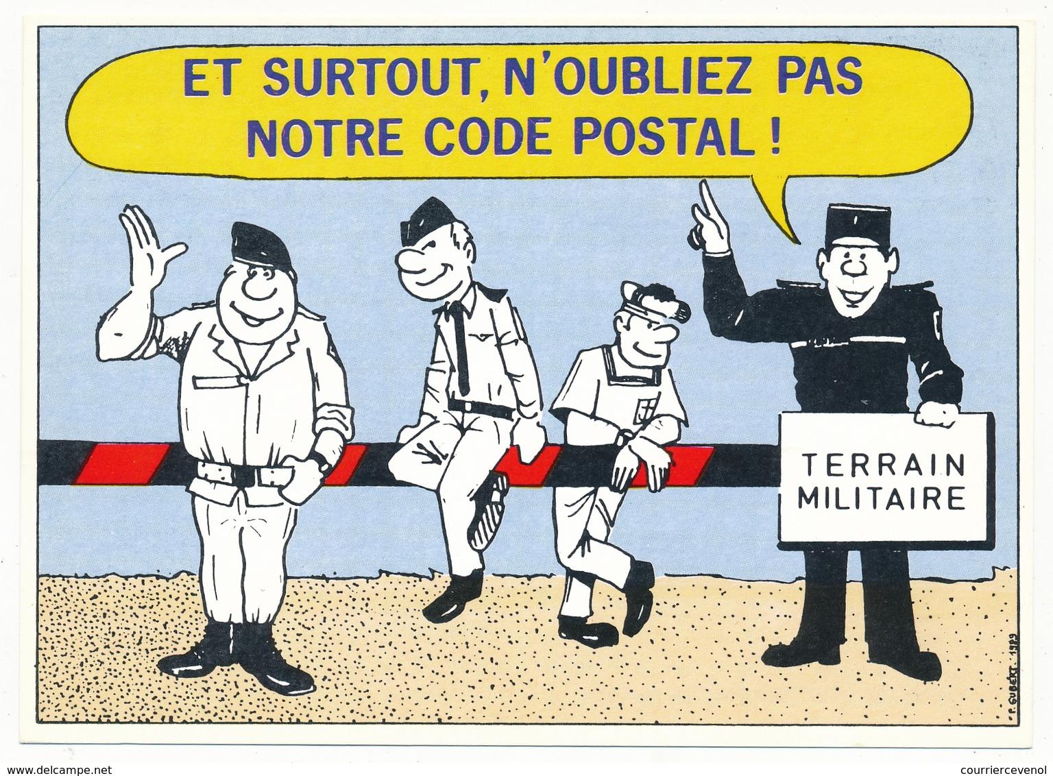 FRANCE - Carte Pour Changement D'adresse - Et Surtout N'oubliez Pas Notre Code Postal - 00 ___ ARMÉES - Pseudo-entiers Officiels