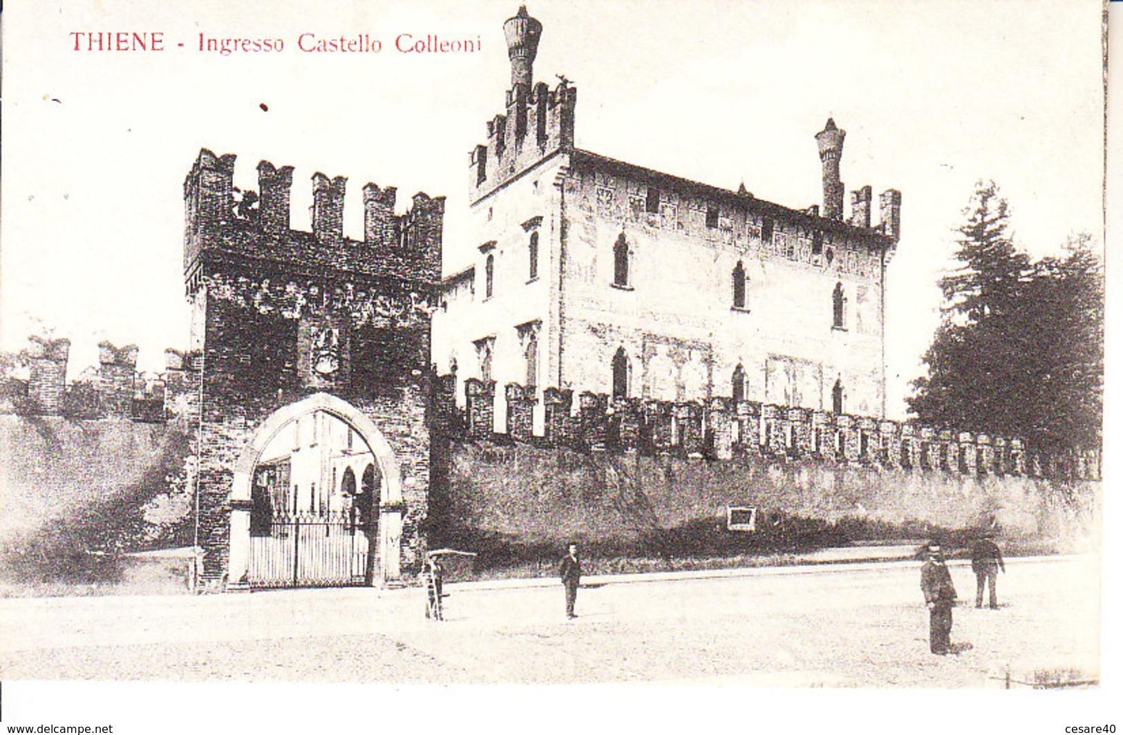 ITALIA - THIENE - Ingresso Castello Colleoni, Animata, Anni 10 - 2018-2-91 - Italia