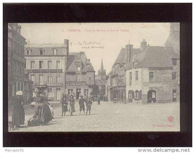 22 Paimpol Place Du Martray & Rue De L'église édit. Huyart N° 15 Animée Café Du Marché , Au Bon Marché Hotel Contine - Paimpol