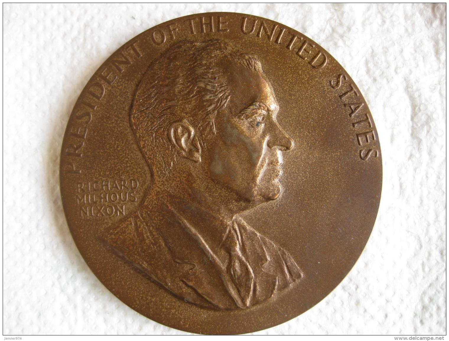 Médaille Richard Nixon President Of The United States 1969, Par Gasparro - USA