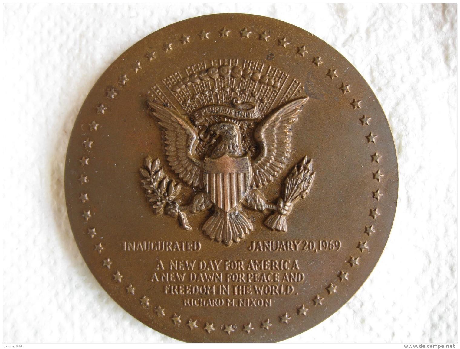 Médaille Richard Nixon President Of The United States 1969, Par Gasparro - Unclassified