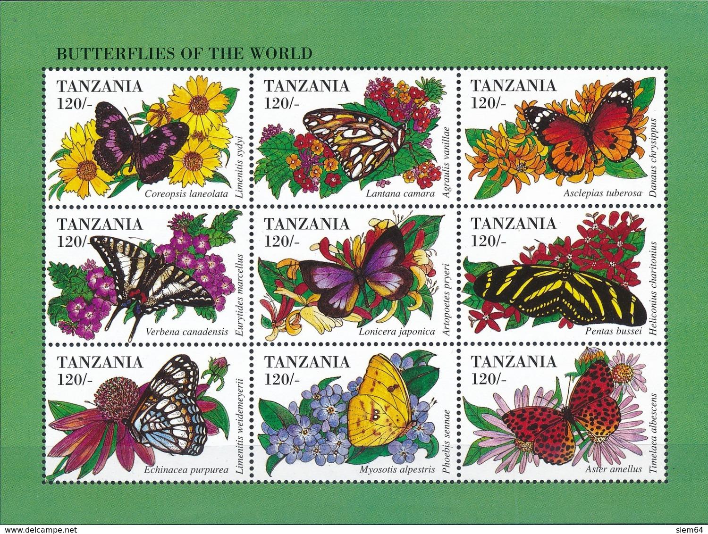 Tanzania  Vlinders - Vlinders