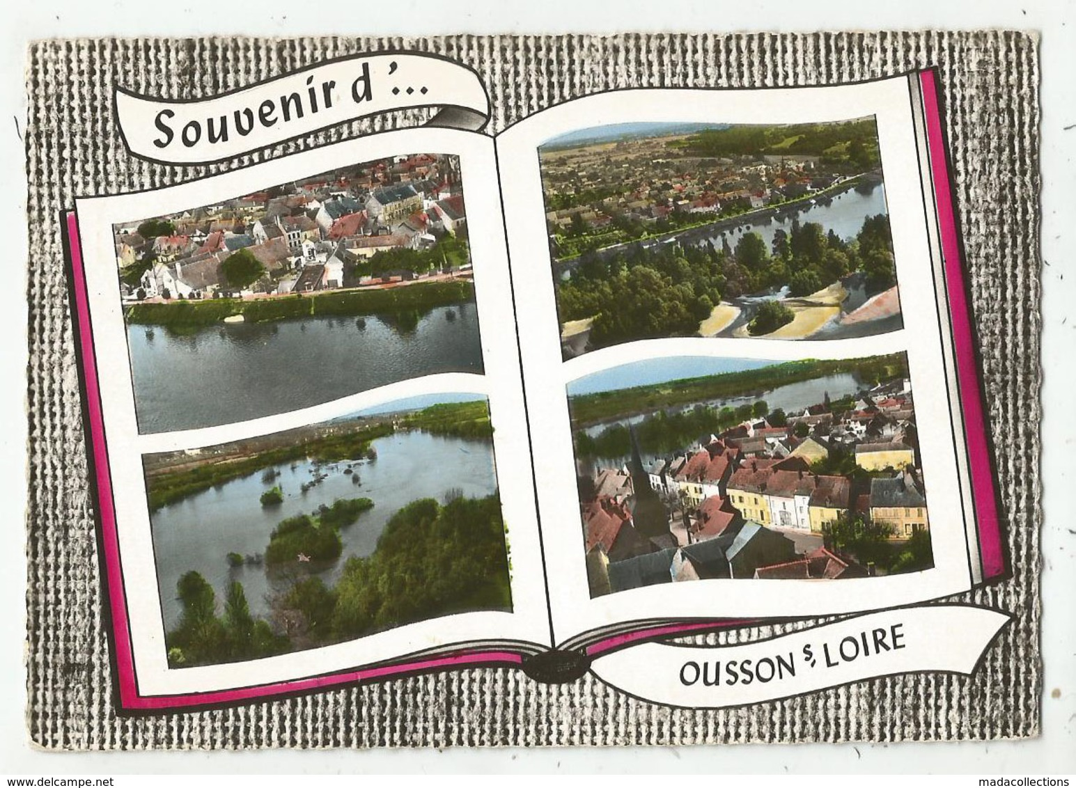 """Ousson Sur Loire (45 - Loiret)  Multi Vues Façon """"livre Ouvert"""" - France"""