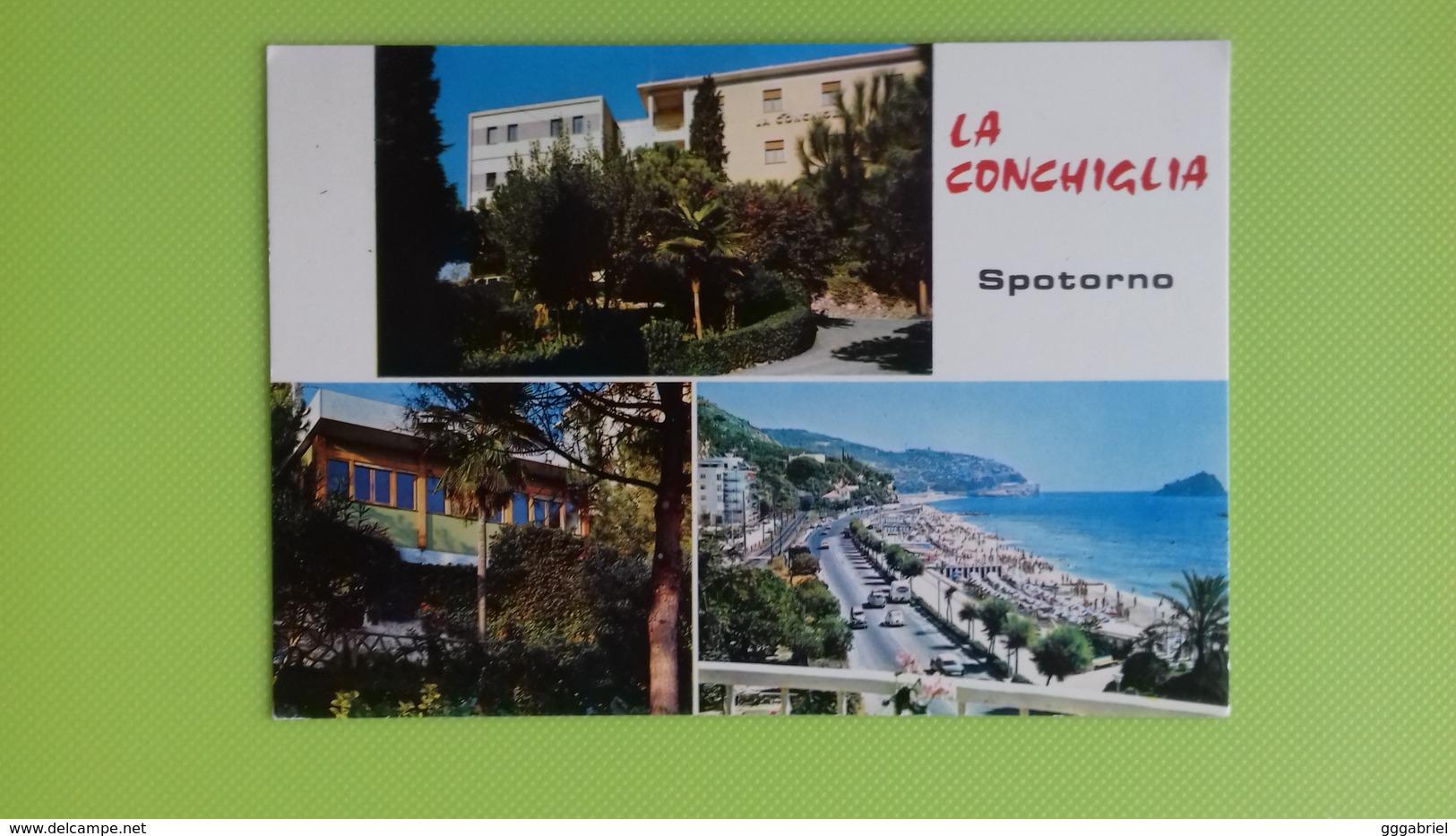 """Cartolina SPOTORNO - SV - Viaggiata - Postcard - Soggiorno """"La Conchiglia"""" Della Charitas Ambrosiana - Savona"""