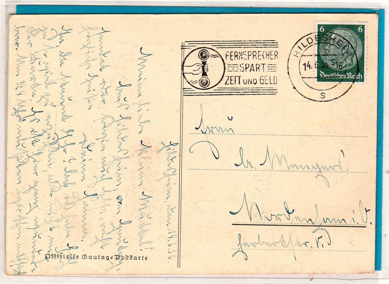 AK Gautag Hildesheim 1936 - Allemagne