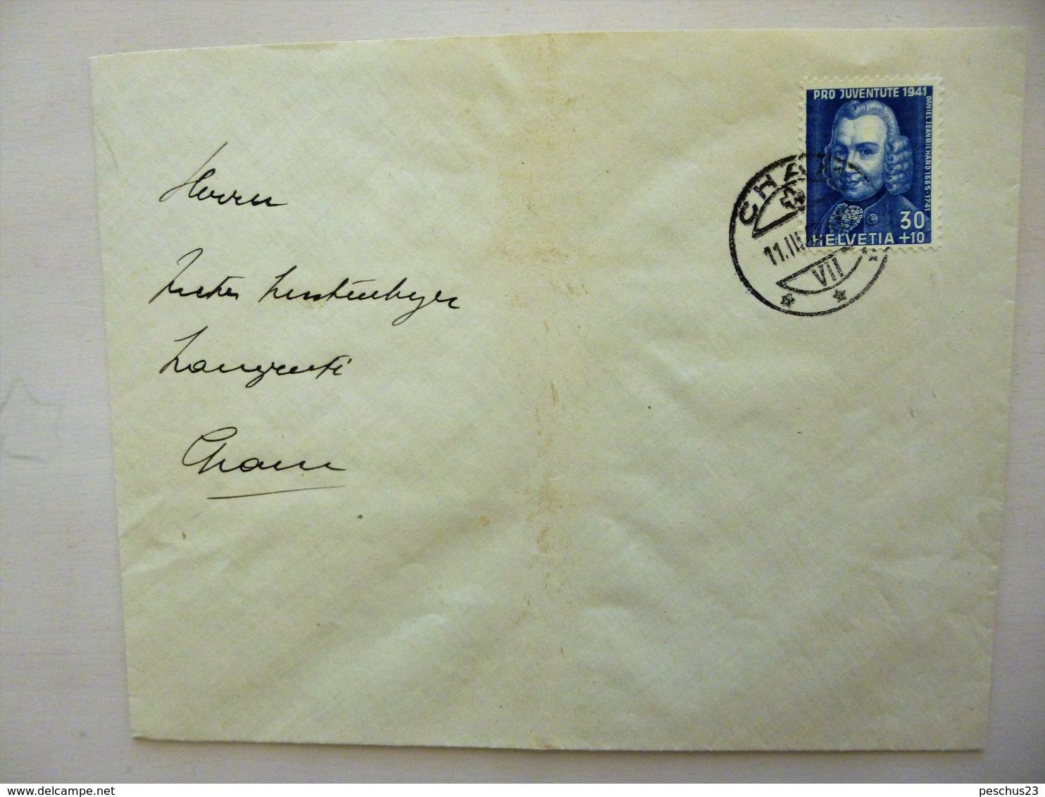 SUISSE / SCHWEIZ / SWITZERLAND // Brief Mit 30Rp. PRO JUVENTUTE 1941, Gest. CHAM 11.III.42 - Pro Juventute