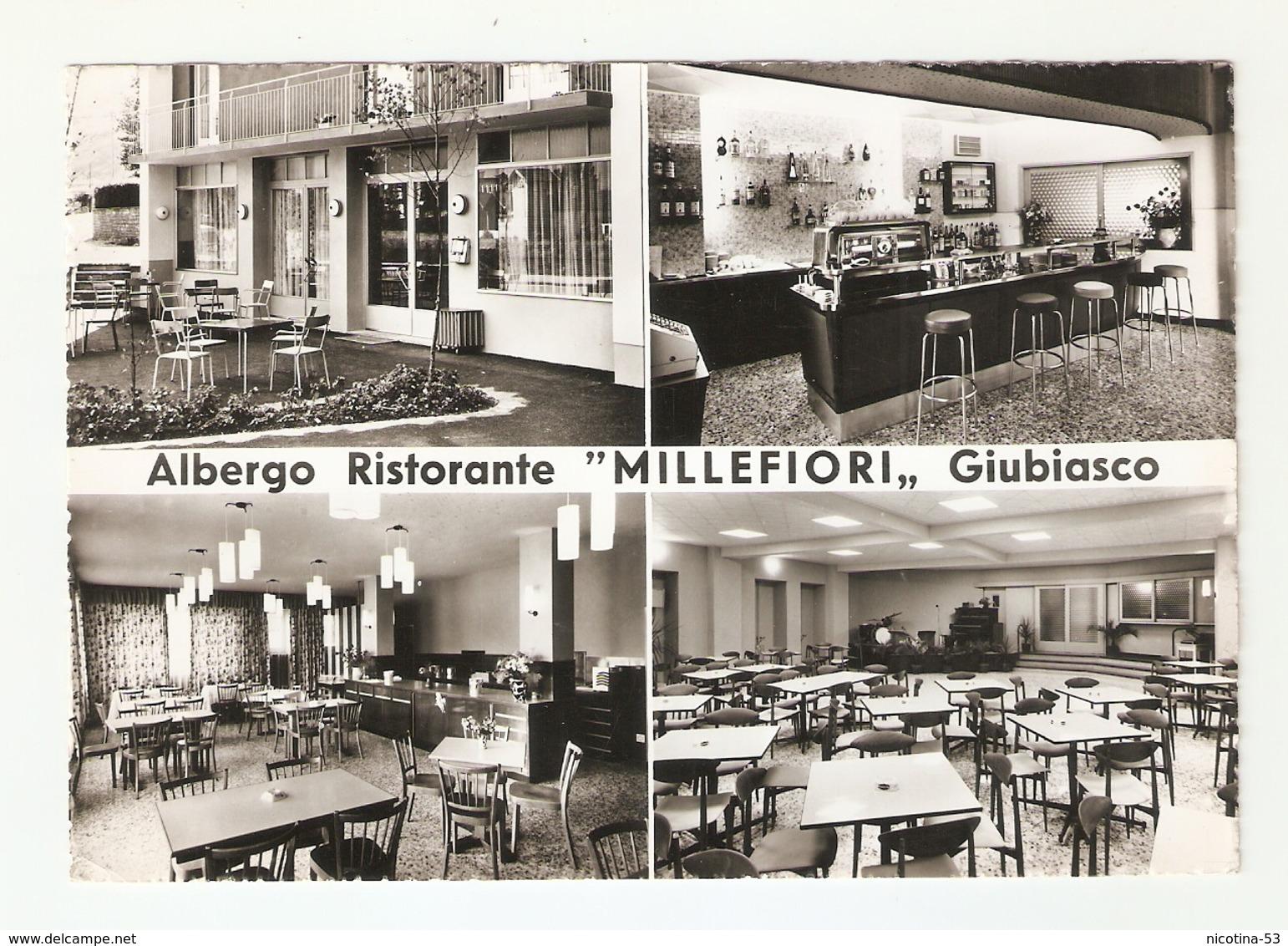"""CT--02473-- ALBERGO RISTORANTE """"MILLEFIORI"""" GIUBIASCO-SVIZZERA-MACCHINA DA CAFFE - Alberghi & Ristoranti"""