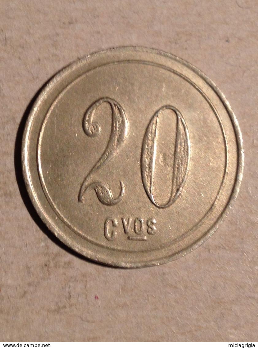 TOKEN JETON GETTONE 20 CENTEVOS DA CATALOGARE - Monedas/ De Necesidad