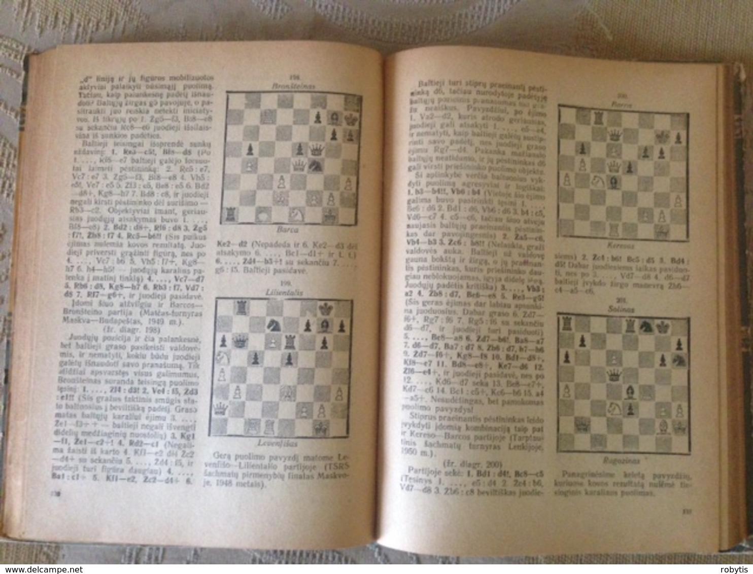 Lithuania Book Chess 1952 Rare Book - Otros