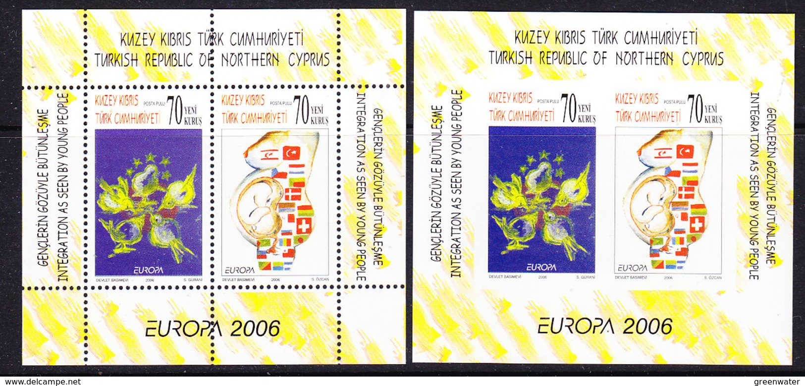 Europa Cept 2006 Northern Cyprus M/s Perforated + Imperforated  ** Mnh (38557) - Europa-CEPT