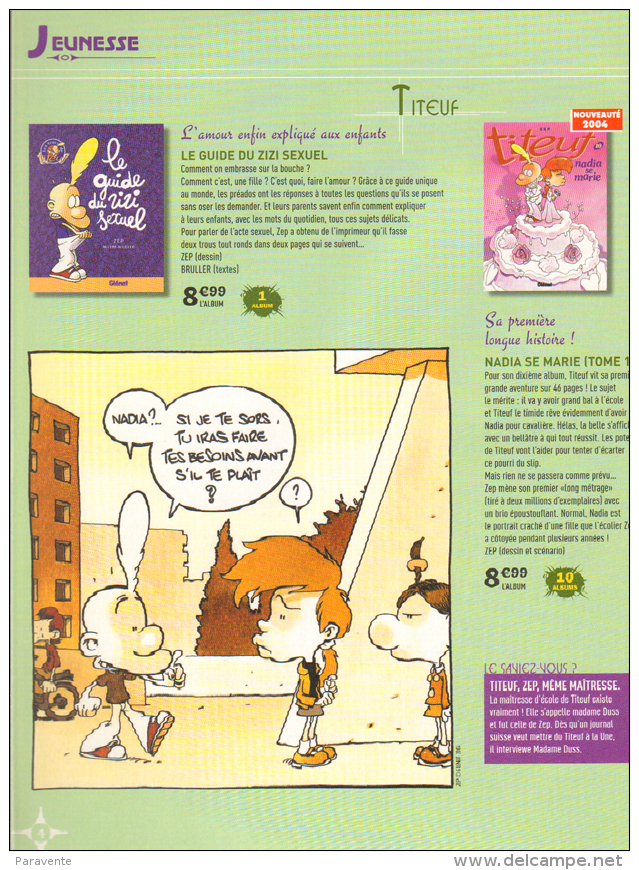 Catalogue Carrefour 2004 ASTERIX BILAL LOISEL MOEBIUS FRANCQ SPIROU LANFEUST TINTIN  Â…. - Livres, BD, Revues