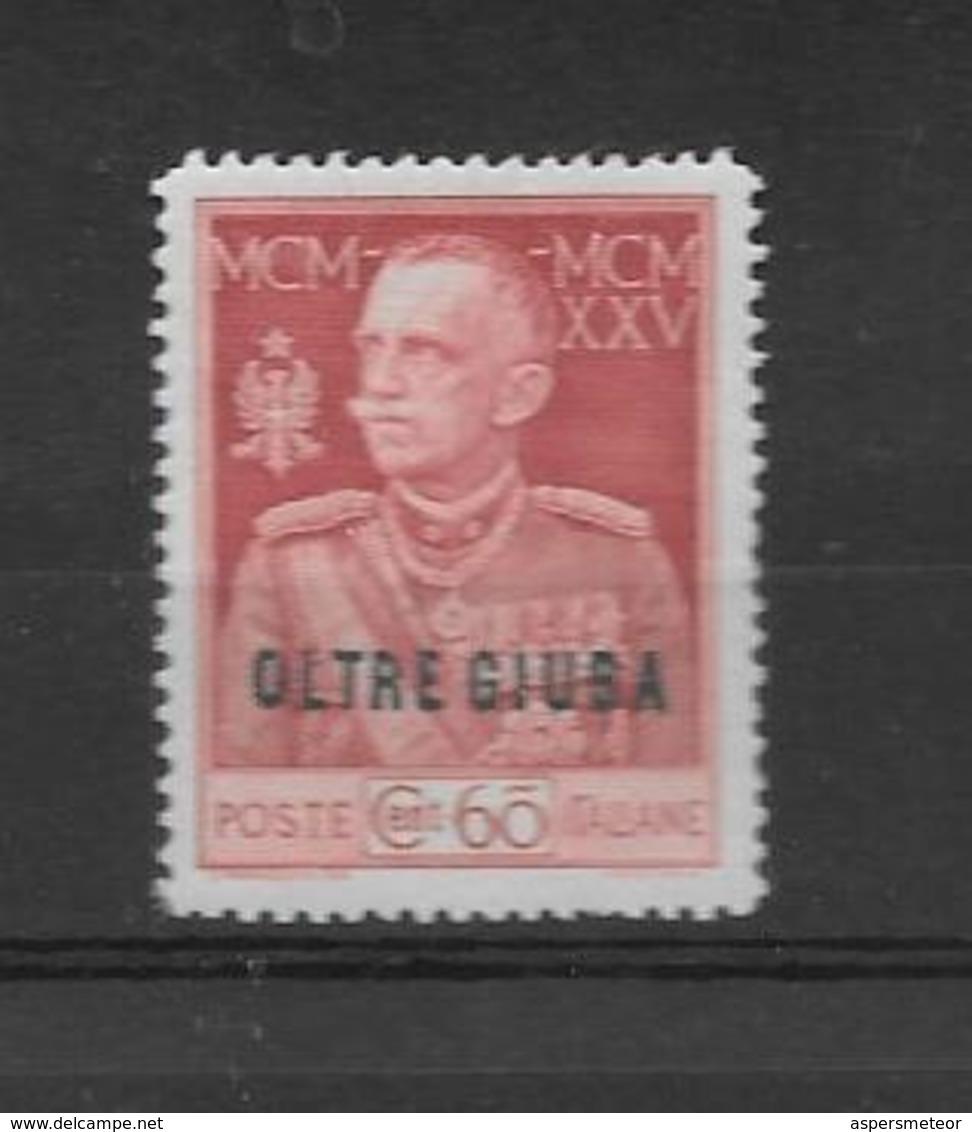 OLTRE GIUBA SOMALIA ANS 1925-1926 GIUBILEO DEL RE SASSONE NRO. 21 MH AVEC GOMME ORIGINALE AVEC CHARNIERE LEGERE - Oltre Giuba