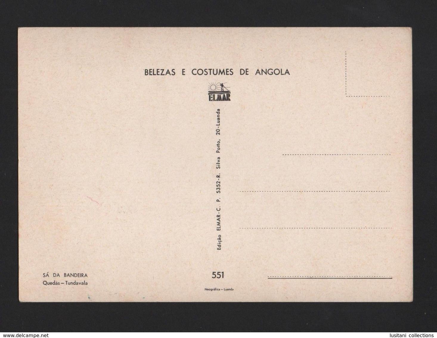 POSTCARD 1970years ANGOLA SÁ DA BANDEIRA TUNDAVALA Water Falls AFRICA AFRIKA - Angola
