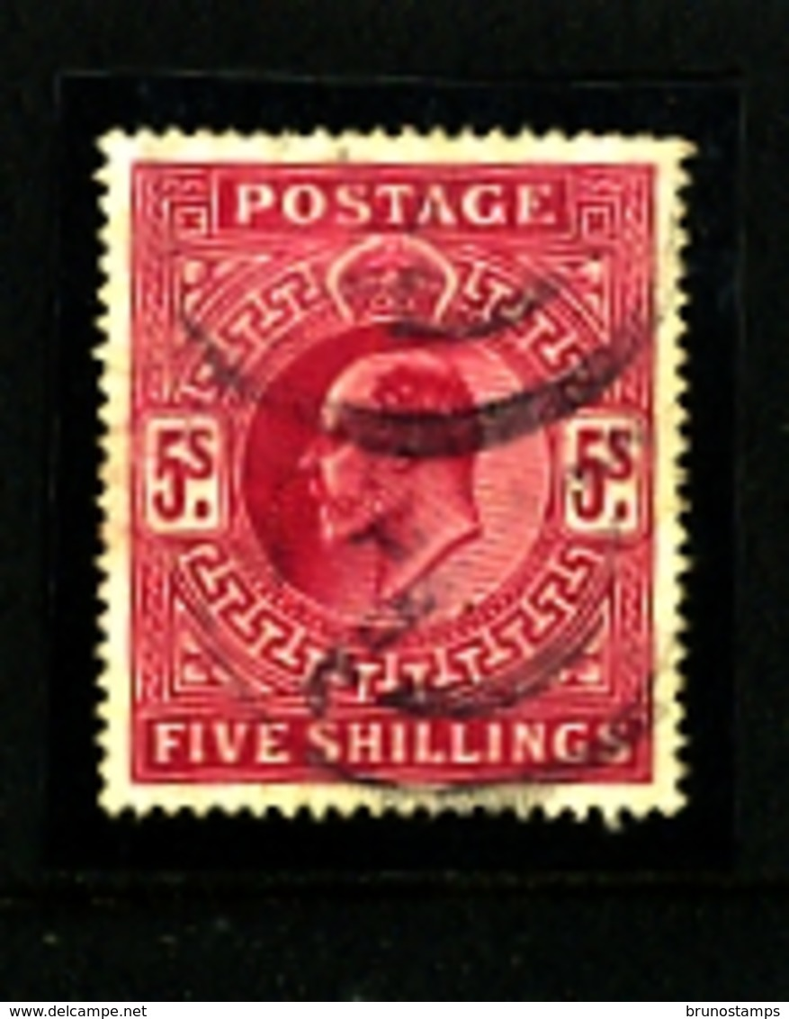 GREAT BRITAIN - 1902  EDWARD VII  5s  CARMINE  FINE USED  SG 264 - Usati