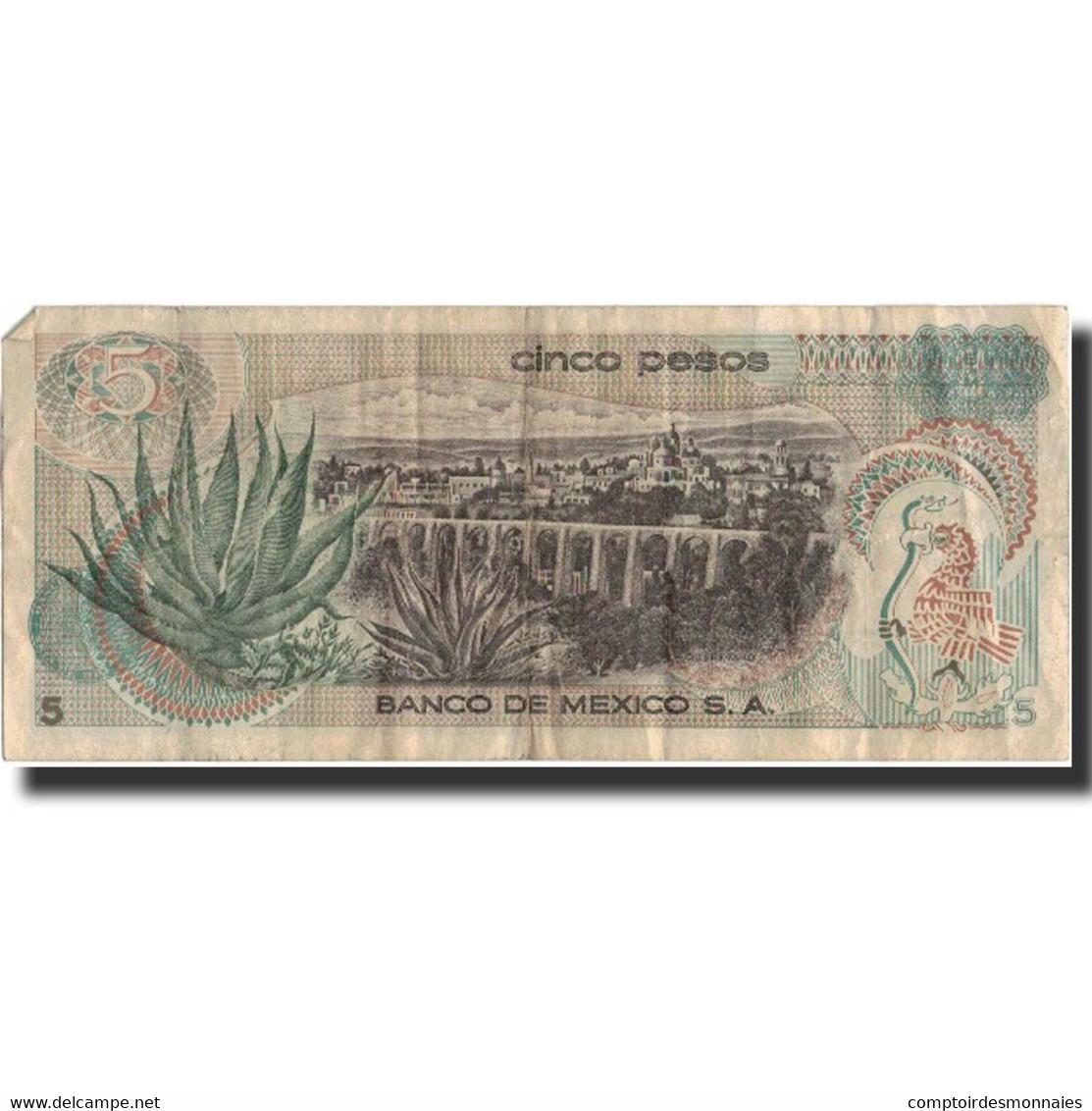 Billet, Mexique, 5 Pesos, 1971, 1981-01-27, KM:62b, TB+ - Mexique