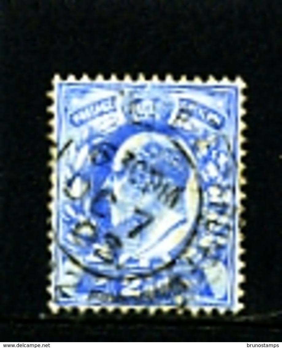 GREAT BRITAIN - 1910  EDWARD VII  2 1/2d  BLUE  PERF 15 X 14  FINE USED   SG 283 - Usati