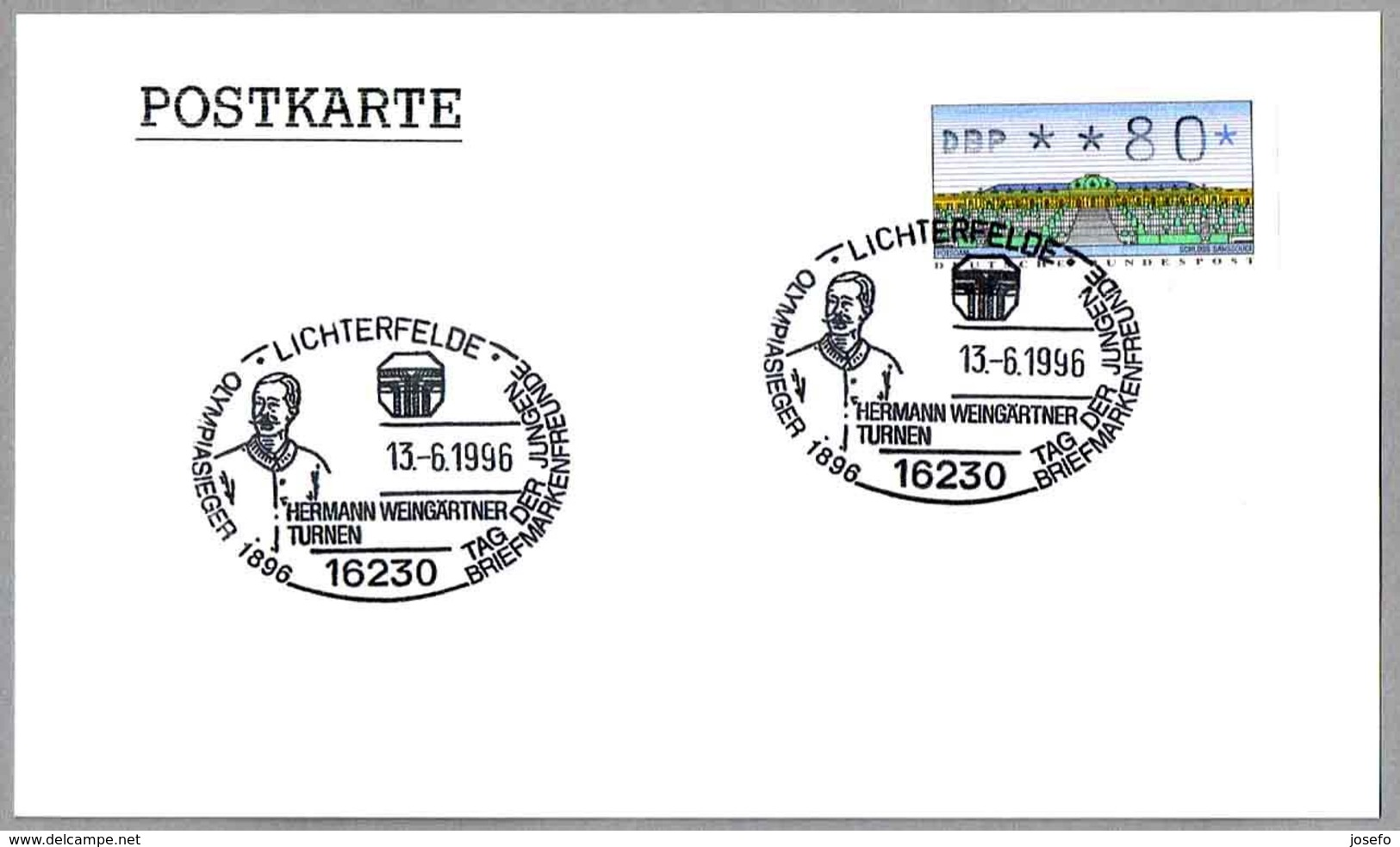 HERMANN WEINGARTNER - Campeon Olimpico Gimnasia Atenas 1986. Lichterfelde 1996 - Verano 1896: Atenas