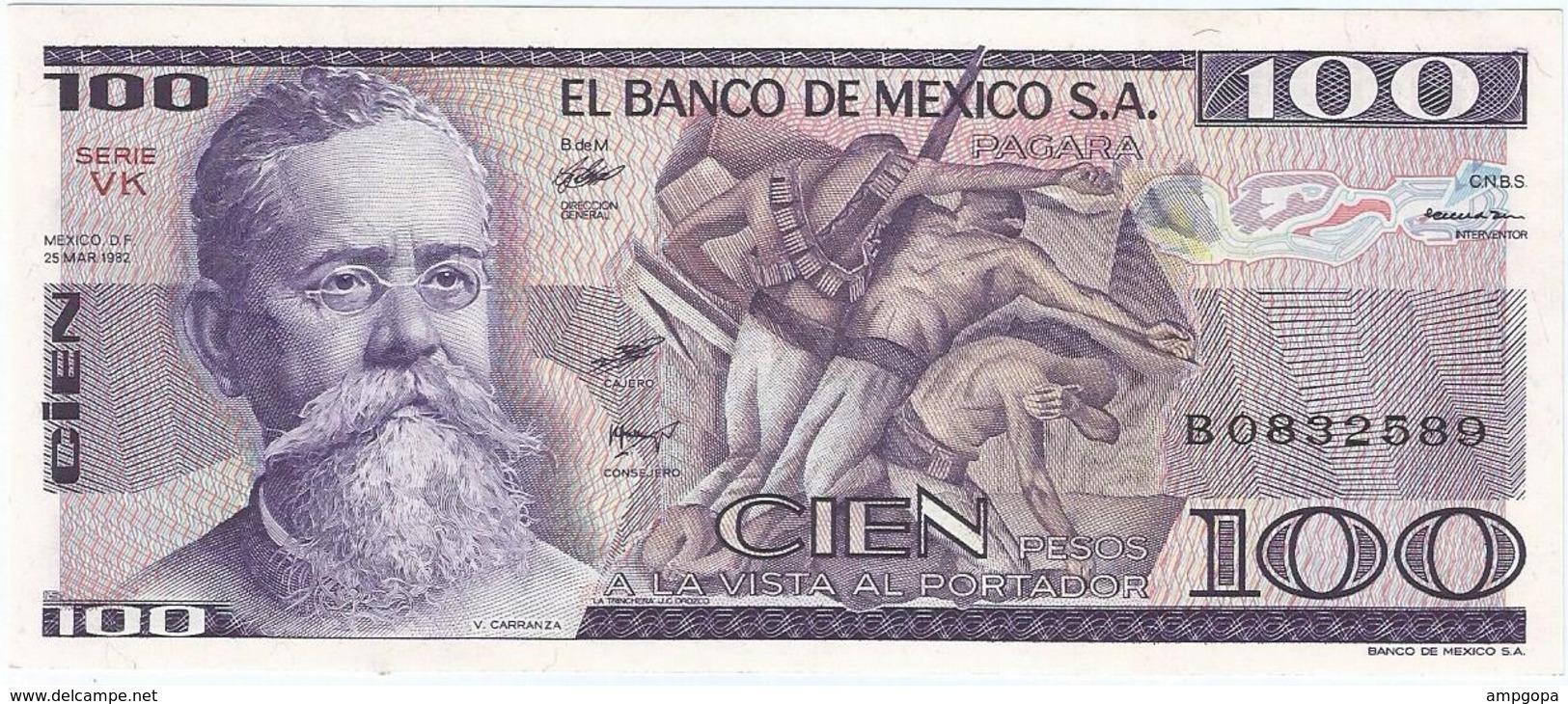 México 100 Pesos 25-3-1982 VK Pick 74.c UNC - México