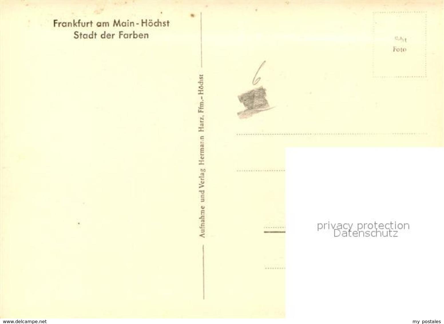 43092601 Hoechst Main Schlossplatz Hoechst - Frankfurt A. Main