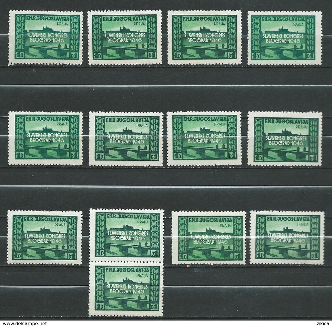Yugoslavia 1948 Slav Congress - Lot 13 Stamps - Prague Castle,Czech Republic - MNH** - Nuovi