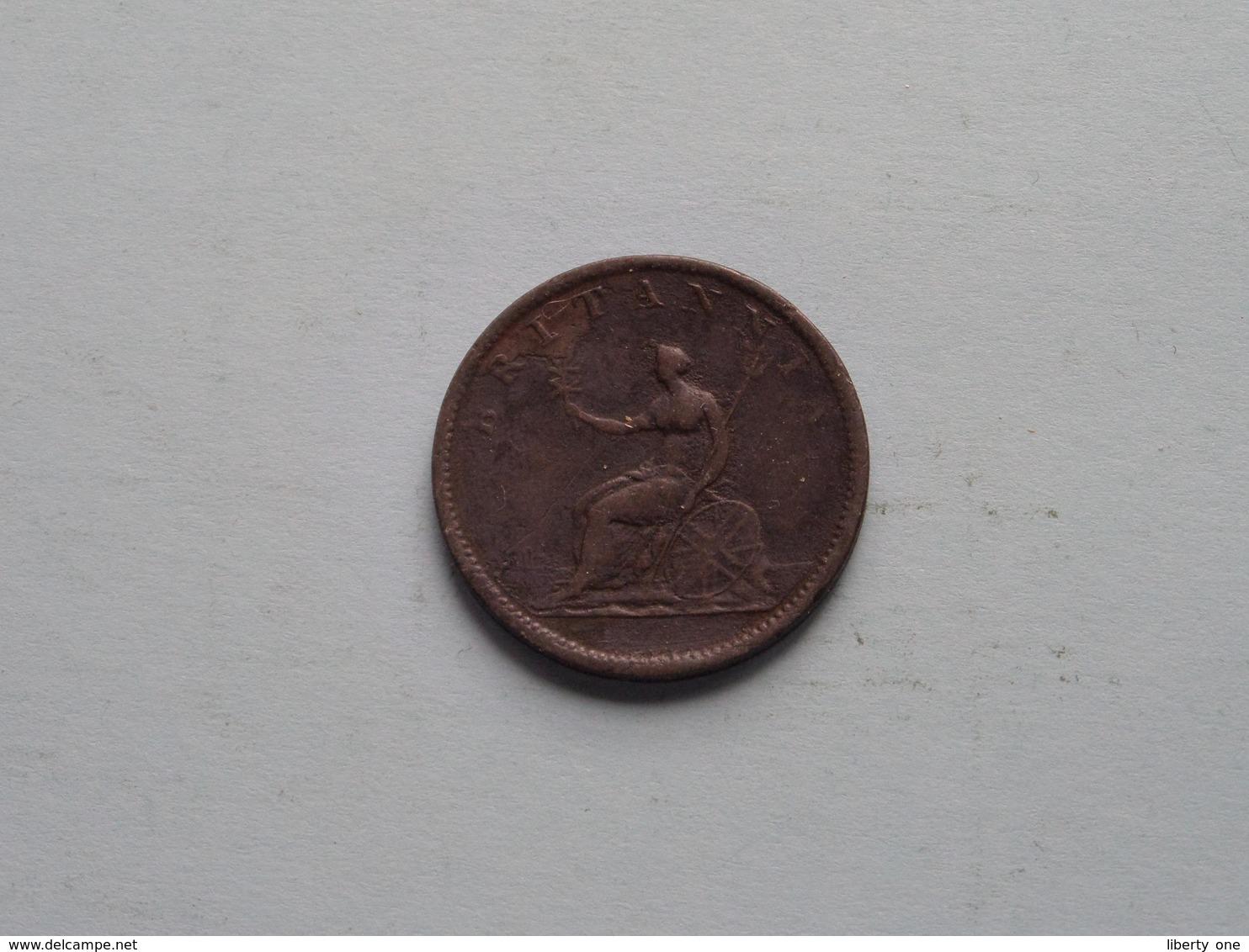 1806 - 1/2 Penny / KM 662 ( For Grade, Please See Photo ) ! - 1662-1816 : Acuñaciones Antiguas Fin XVII° - Inicio XIX° S.