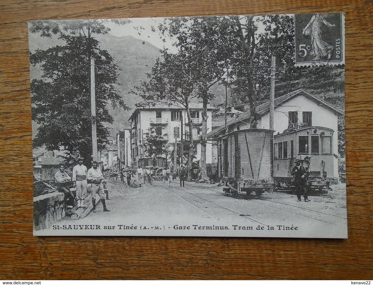 Repro , St-sauveur Sur Tinée , Gare Terminus Tram De La Tinée - Francia