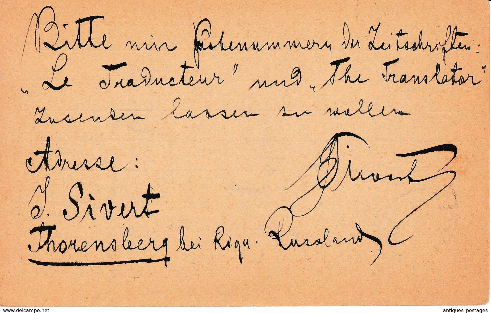 Lettre 1907 Torņakalns Thorensberg Lettonie Торнякалнс Latvija Латвия Russie Russia Россия La Chaux De Fonds Suisse - Letland