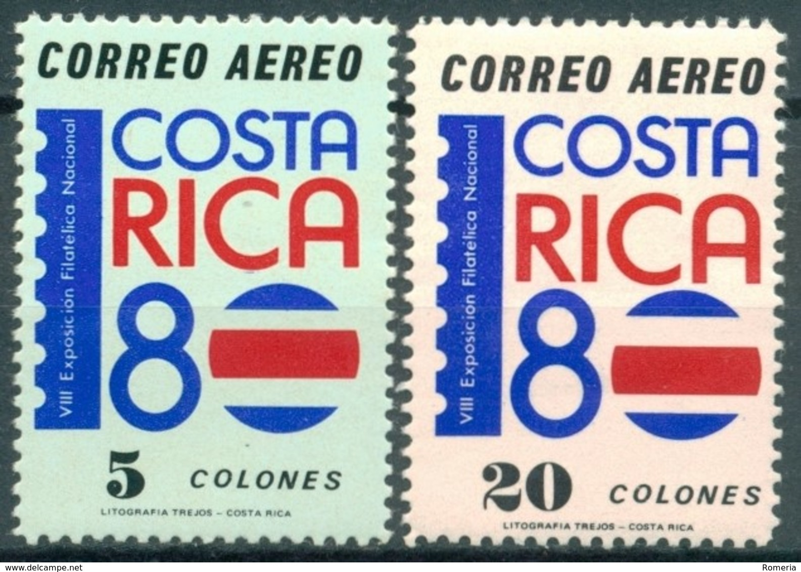 Costa Rica - 1980 - Yt PA 777/778 - 8ème Exposition Philatélique - ** - Costa Rica