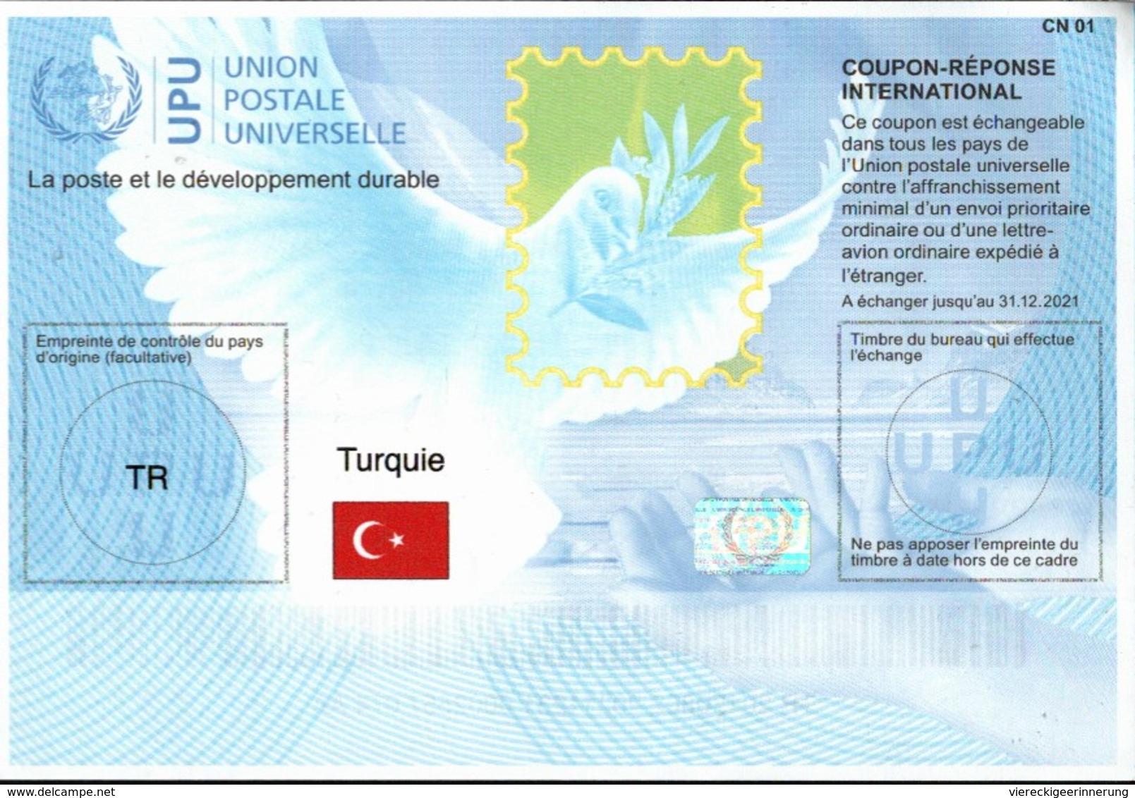 ! New International Reply Coupons, Coupon Reponse, Internationale Antwortscheine, UPU, Weltpostverein - Nuevos