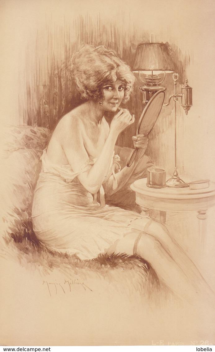 Gravure Maurice Millière Collection Déshabillés Parisiens 1920 Libr.de L'estampe Paris, Femme, Nu, Miroir, érotisme - Estampes & Gravures