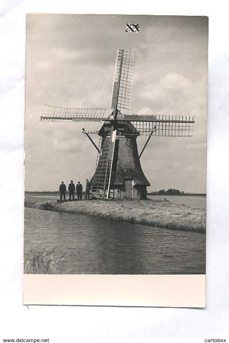 Grouw, Borgmolen    (originele Molen Fotokaart)    2 X Scan - Nederland